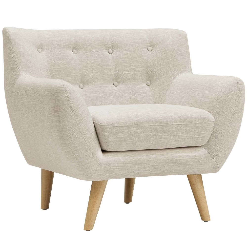 Remark Upholstered Armchair Beige - Modway