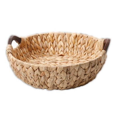 Cravings by Chrissy Teigen Water Hyacinth Basket with Wood Handles