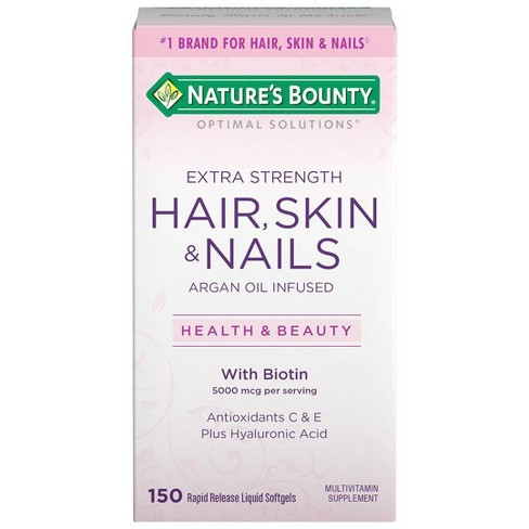 Optimal Solutions Extra Strength Hair, Skin and Nails Dietary Supplement Softgels - 150ct - image 1 of 4