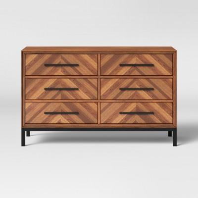 Rochester Parquet 6 Drawer Dresser Brown - Threshold™