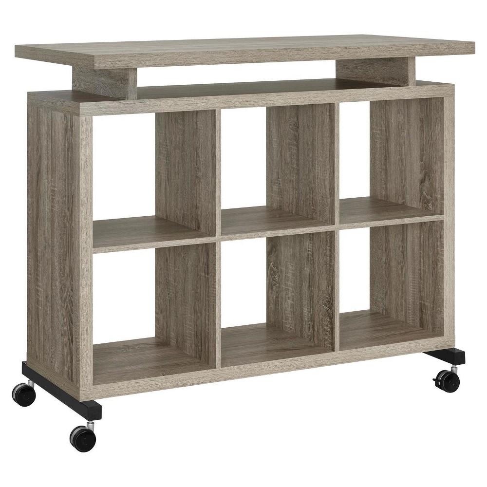Warren Park Multipurpose Standing Desk Sonoma Oak (Brown) - Room & Joy