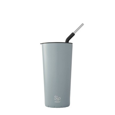 S'ip by S'well 24oz Takeaway Tumbler with Stainless Steel Straw Fog Heather