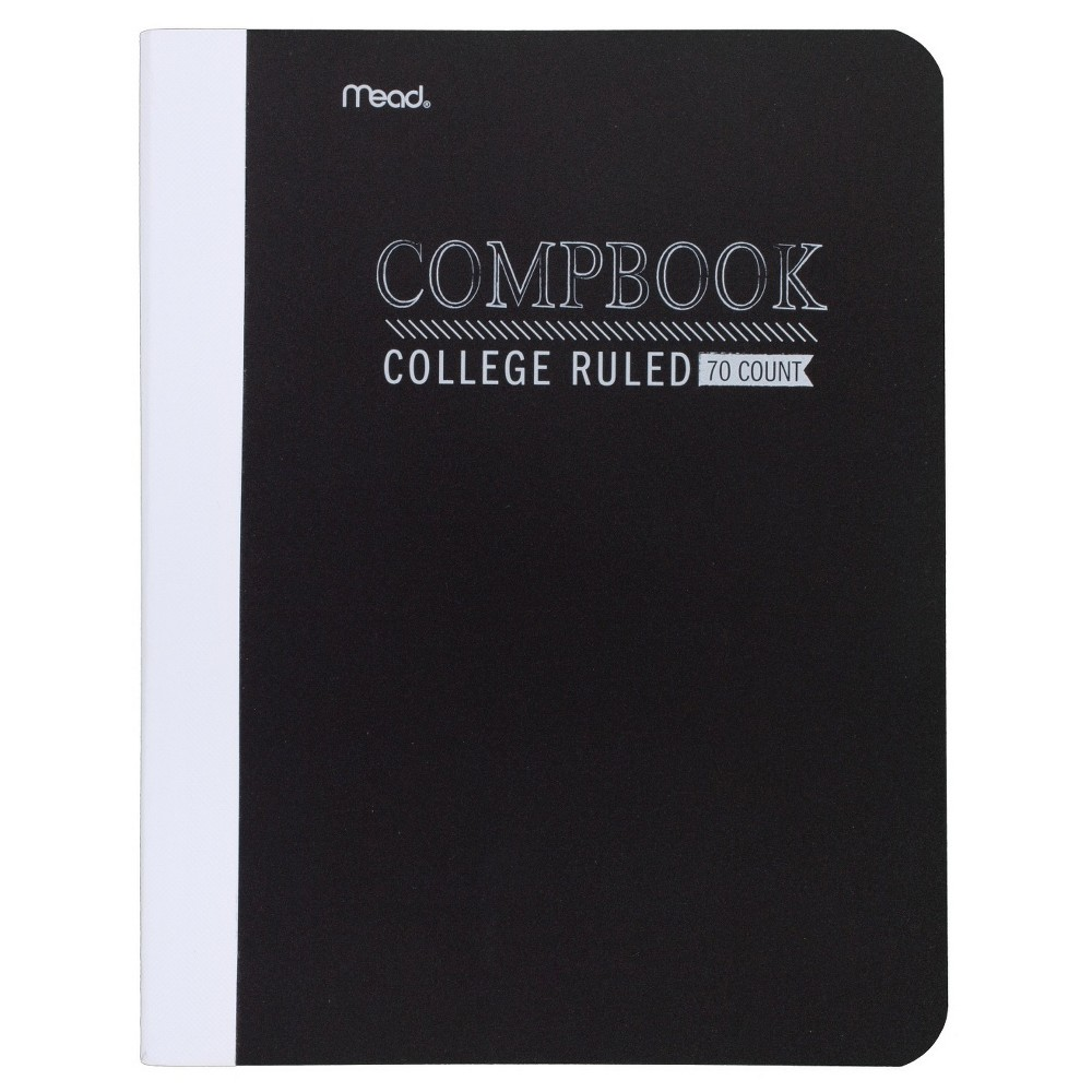 Image of Mead College Ruled Solid Composition Notebook - Black