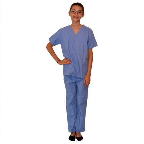 9bcf9fba132 My Little Doc Pretend Play Doctor Scrubs Childs Size 5 - 6 Blue : Target