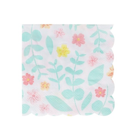 Floral Patterned Beverage Disposable Napkin - Spritz™ - image 1 of 1