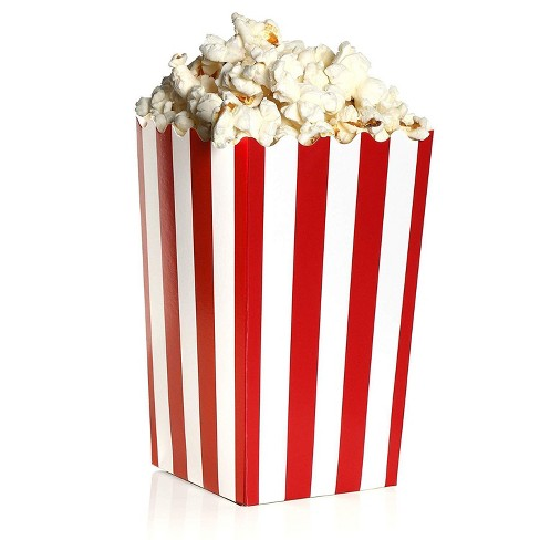 100 Mini Popcorn Boxes 3x5 Party Snack Favor Treat Containers Red/White, 20 Oz - image 1 of 4