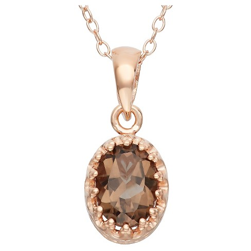Tiara Sterling Silver Oval-Cut Birthstone Crown Pendant - image 1 of 1