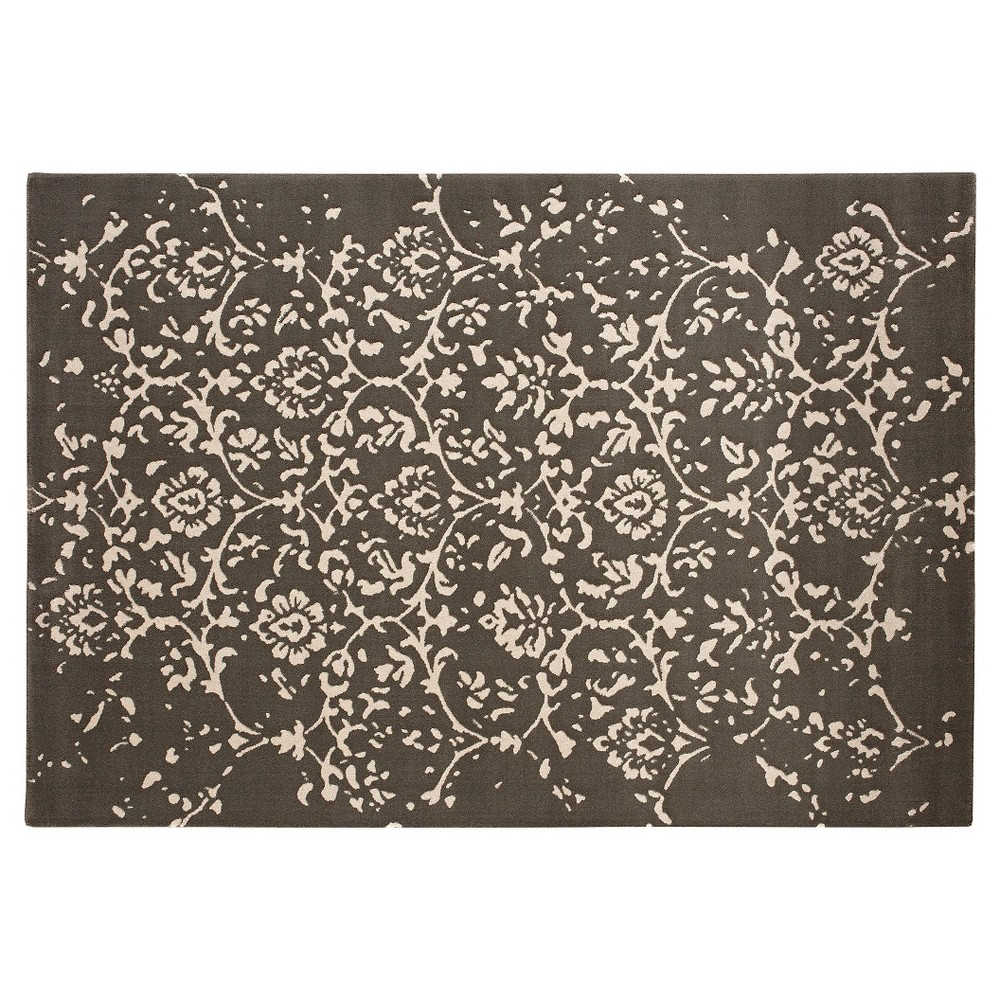 Image of 5'X7' Damask Area Rug Dark Gray - Balta Rugs, Gray Beige