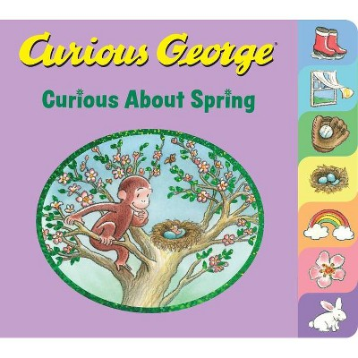 Curious George: Curious about Spring - by H A Rey (Board Book)