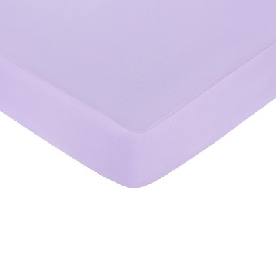 Sweet Jojo Designs Princess Fitted Crib Sheet - Purple