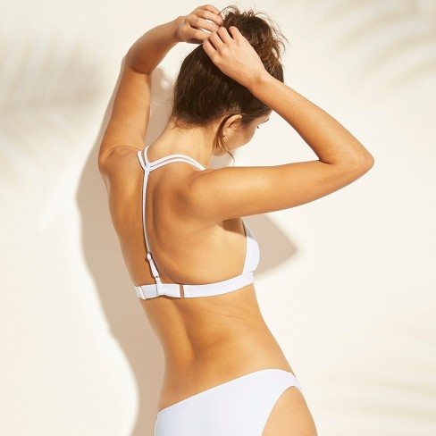 c4b1697b6f17 Women's Clasp Front Triangle Bikini Top - Xhilaration™ White : Target
