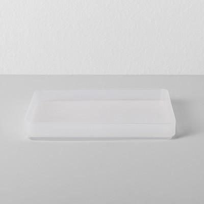Medium Plastic Bathroom Tray 6 W X 4.5 D X 0.75 H Clear - Made By Design™