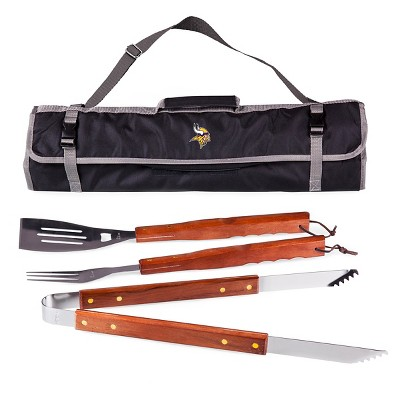 Minnesota Vikings 3-Piece BBQ Tote and Tools Set by Picnic Time