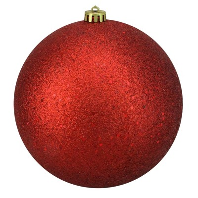 "Northlight Holographic Glitter Red Shatterproof Christmas Ball Ornament 8"" (200mm)"