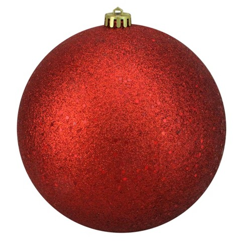 huge discount cb8b0 cdf0d Northlight Red Hot Shatterproof Holographic Glitter Christmas Ball Ornament  8