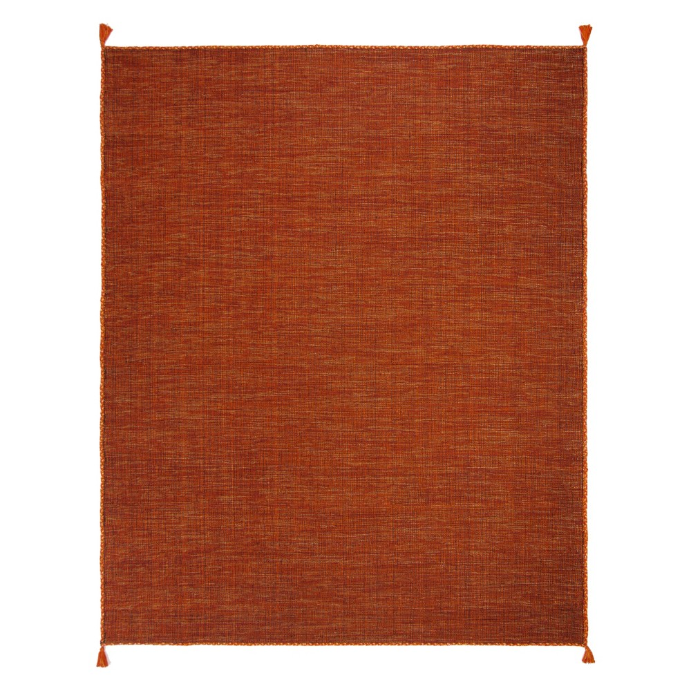 8'X10' Solid Woven Area Rug Orange/Black - Safavieh