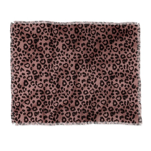 Dash And Ash Leopard Love Throw Blanket Brown - Deny Designs - image 1 of 2