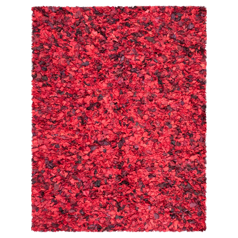 Red/Multi Solid Tufted Area Rug - (8'X10') - Safavieh