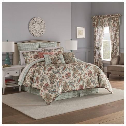 Waverly Queen 4pc Brompton Comforter, Waverly Bedding Set Queen