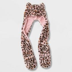 Girls' Leopard Hooded Scarf - Cat & Jack™ Pink
