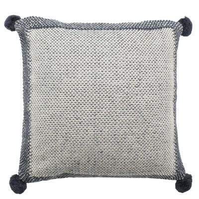 Dania Knit Square Throw Pillow Gray - Safavieh