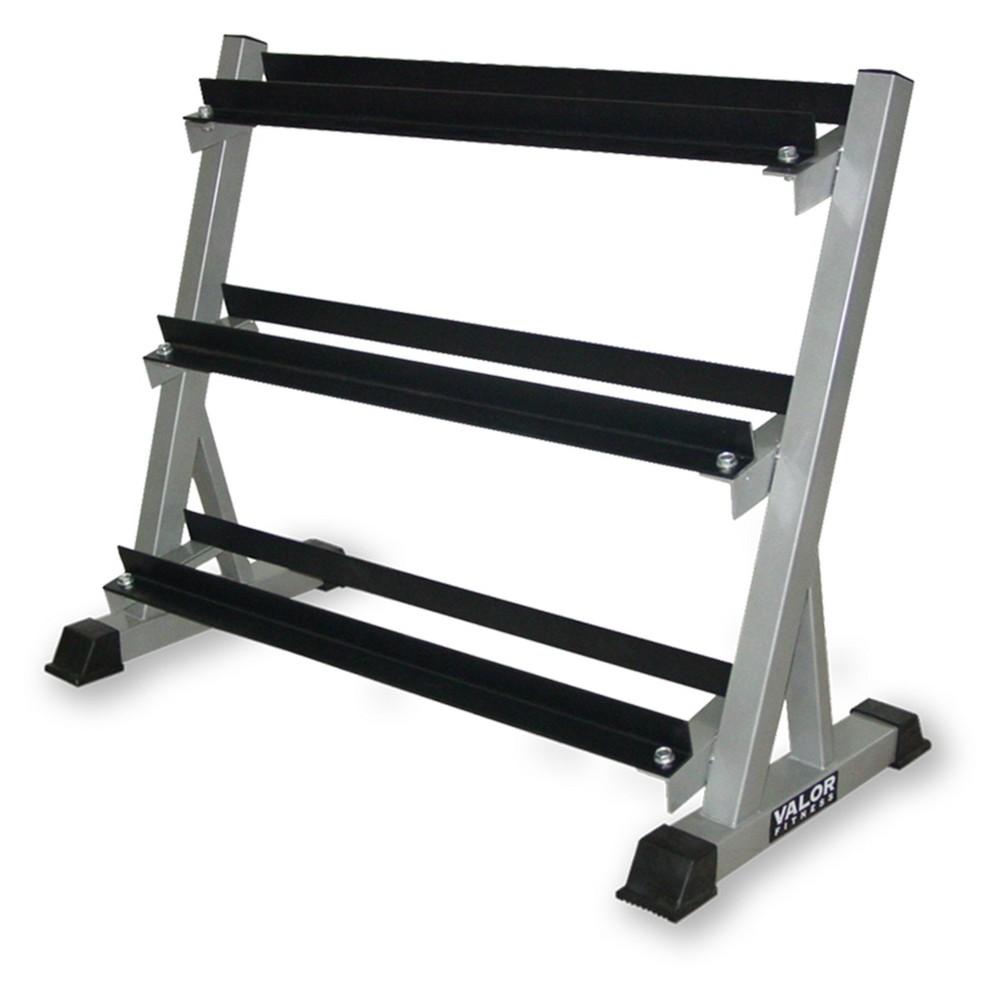 Valor Fitness BG-12 3 Tier Dumbbell Rack, Black