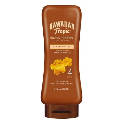 Hawaiian Tropic Dark Tanning Lotion Sunscreen - SPF 4 - 8oz