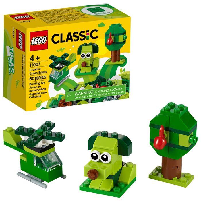 LEGO Classic Creative Green Bricks 11007 Kids' Building Toy Starter Set