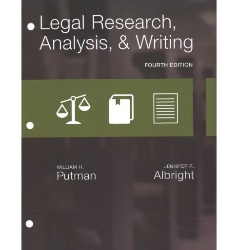 Legal Research, Analysis, & Writing -  by William H. Putman & Jennifer R. Albright (Hardcover) - image 1 of 1