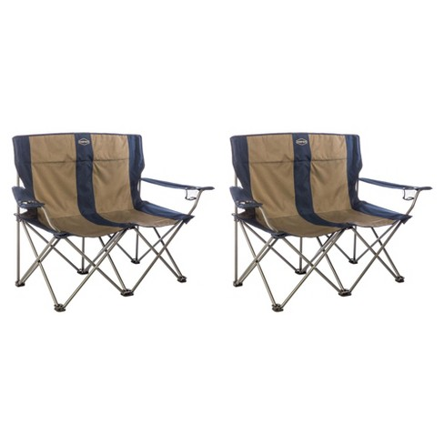 Super Kamp Rite 2 Person Outdoor Tailgating Camping Double Folding Lawn Chair 2 Pack Short Links Chair Design For Home Short Linksinfo