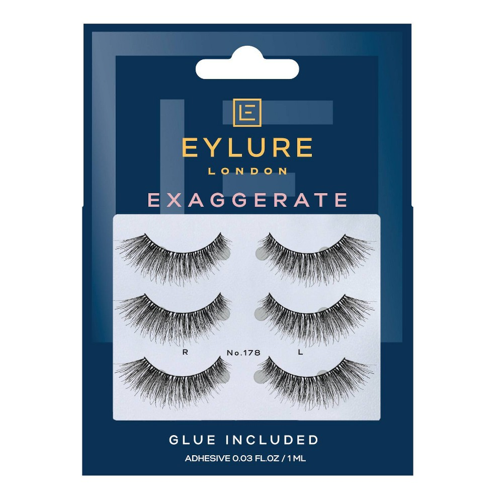 Image of Eylure False Eyelashes Exaggerate 178 - 3pr