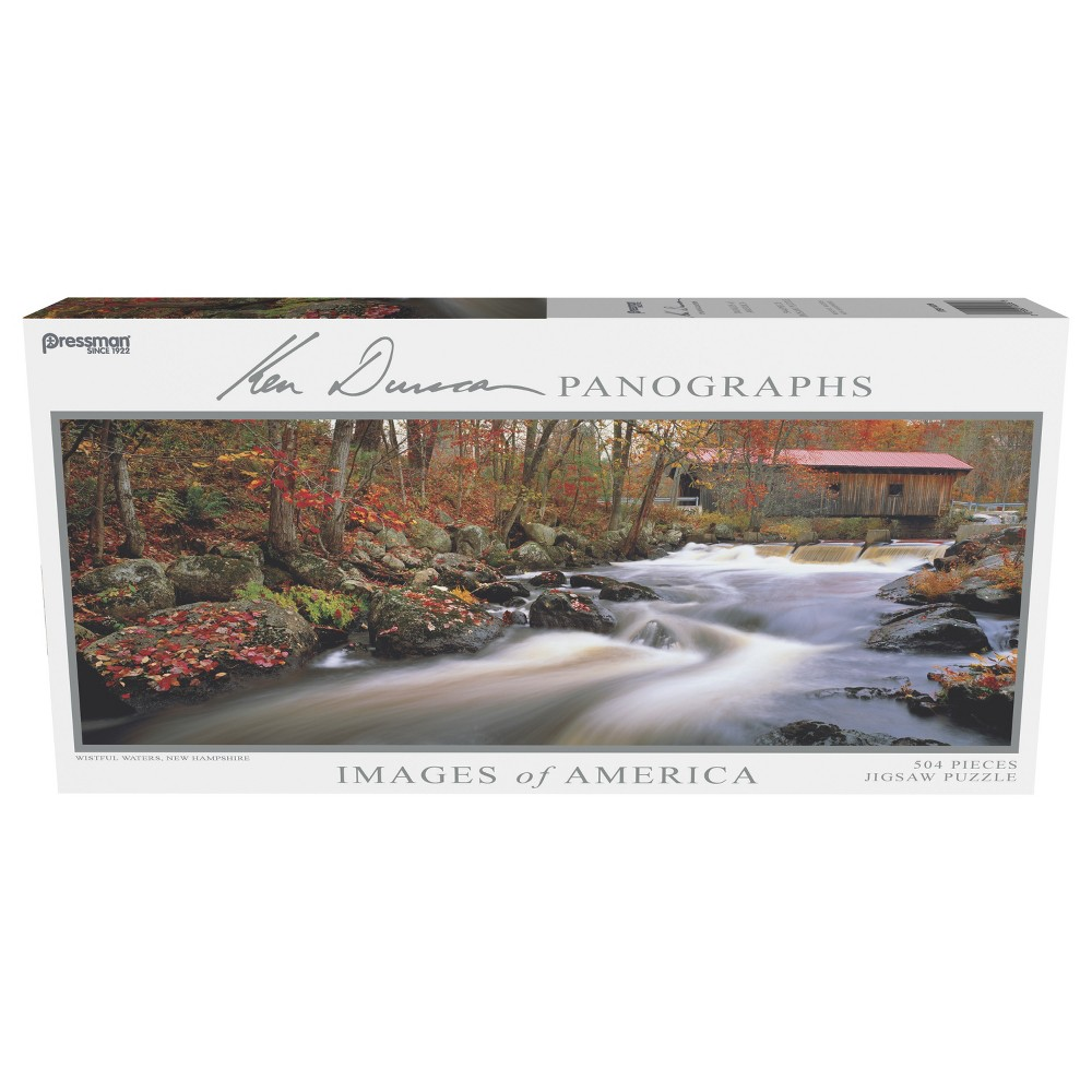 Pressman Images of America - Wistful Waters Panoramic Puzzle 504pc