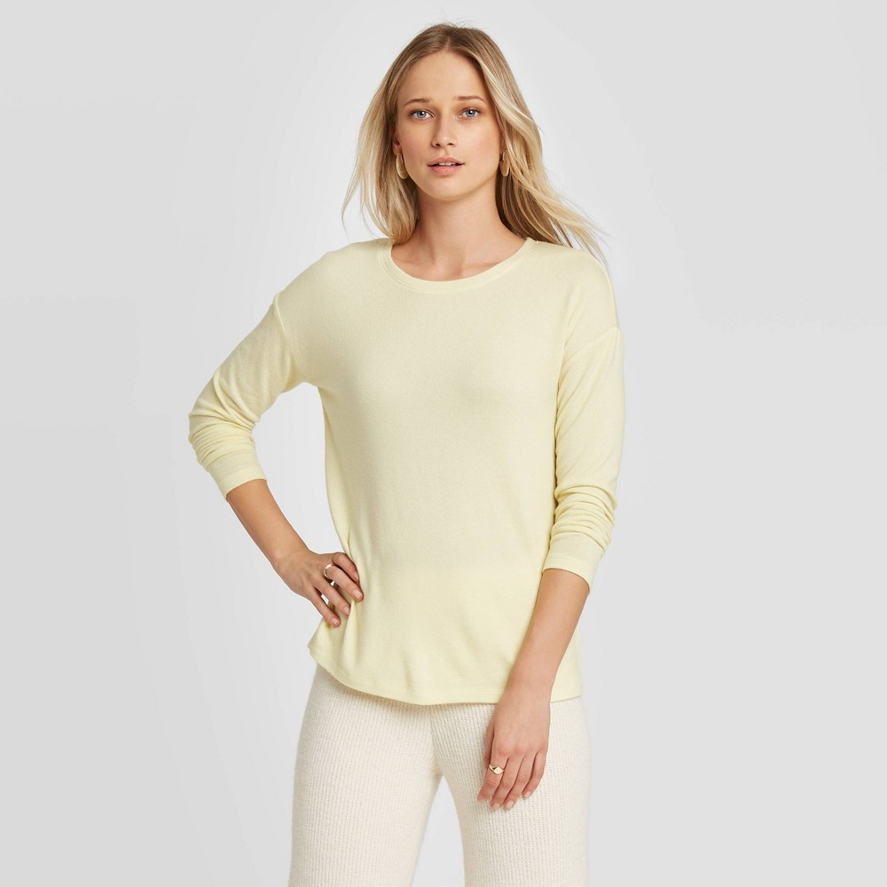 Women's Long Sleeve T-Shirt - A New Day Lemon S, Yellow was $15.0 now $10.5 (30.0% off)