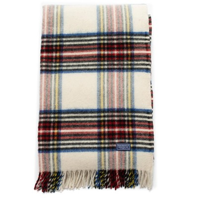 "50""x72"" Holiday Plaid Throw Blanket Natural - Faribault Woolen Mill"