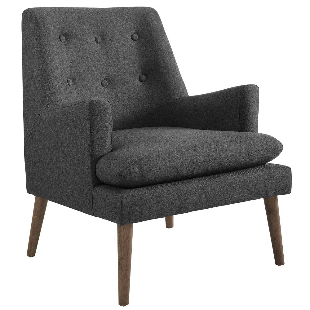 Leisure Upholstered Lounge Chair Gray - Modway