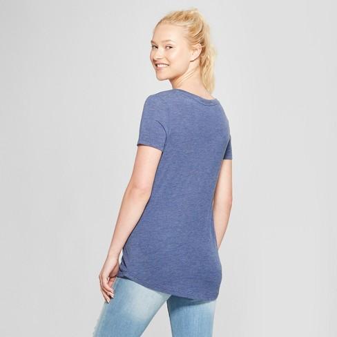 5526e27e3 Women's Short Sleeve Sweet As A Peach Graphic T-Shirt - Awake Navy : Target
