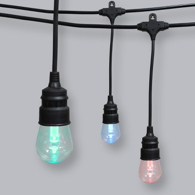24ct Color Changing LED Shatterproof Outdoor String Lights with Remote - Threshold™