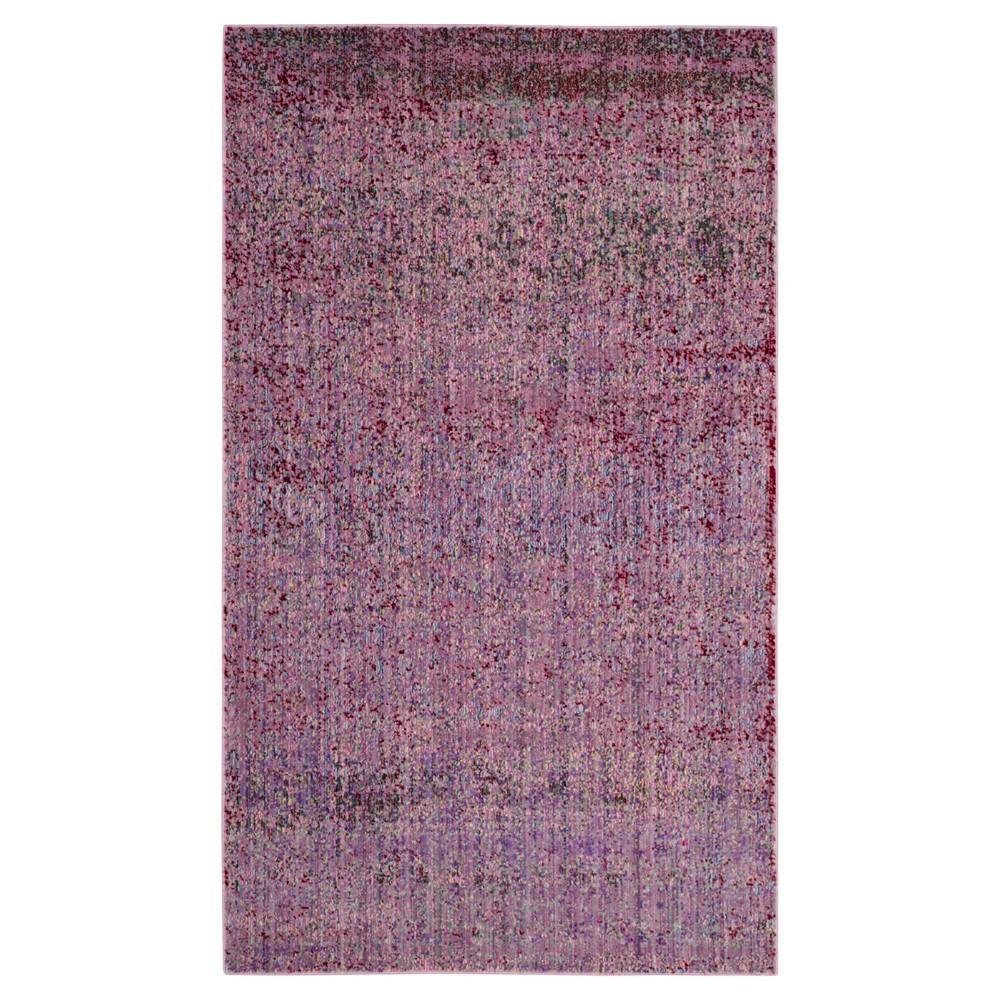 Image of Sacha Area Rug - Lavender / Multi ( 4' X 6' ) - Safavieh, Size: 4'X6', Purple/Multi-Colored