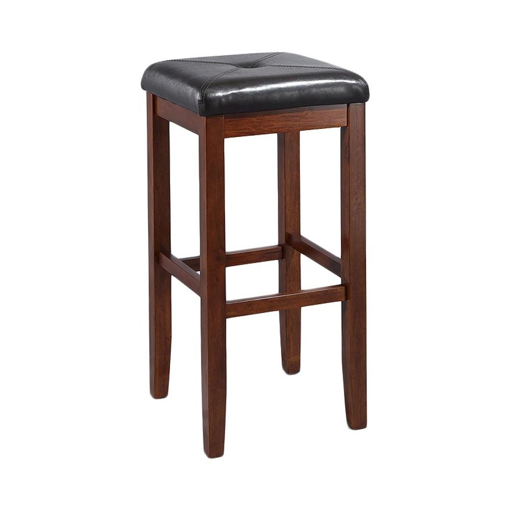 29 Square Bar Stool - Mahogany (Brown) (Set of Two) - Crosley