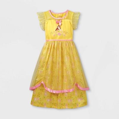 Girls' Disney Princess Belle Nightgown - Yellow