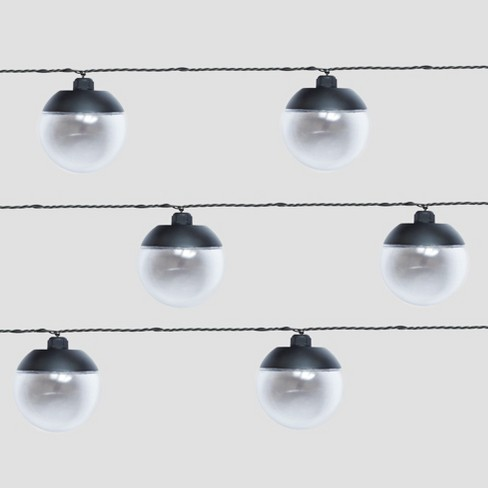 10ct Outdoor LED String Lights Black Cap - Project 62™ - image 1 of 3