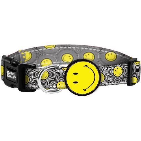Fresh Pawz Smiley X Fresh Pawz Happy Collection Dog Collar - image 1 of 2