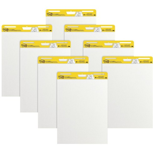 Post-It Self-Stick Easel Pad, 25 x 30 Inches, Unruled, White, 30 Sheets, pk of 8 - image 1 of 3