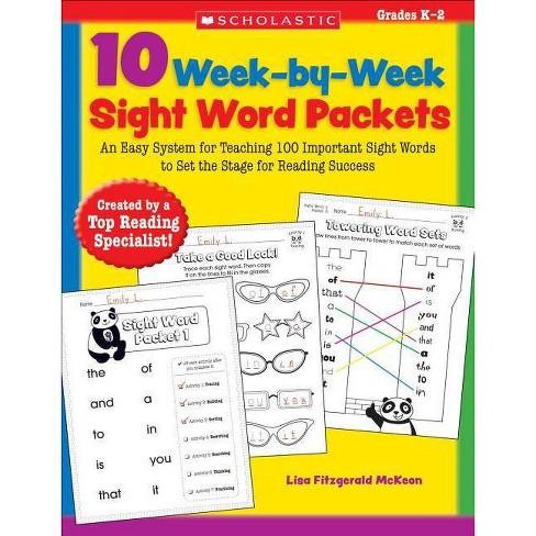 10 Week-By-Week Sight Word Packets - by  Lisa McKeon (Paperback) - image 1 of 1