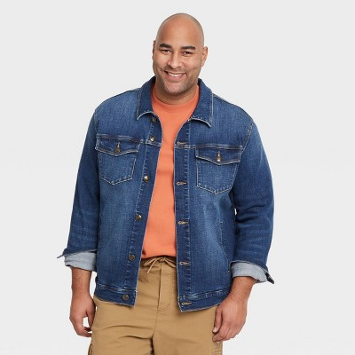 Men's Big & Tall Denim Trucker Jacket - Goodfellow & Co™ Blue