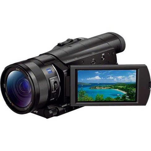 Sony FDR-AX100 4K Ultra HD Camcorder with 1  Exmor R CMOS Sensor, 12x Optical, 3.5  Touchscreen LCD, Zeiss Vario Sonnar T Lens, Wi-Fi/NFC, 4K HD Video - image 1 of 4