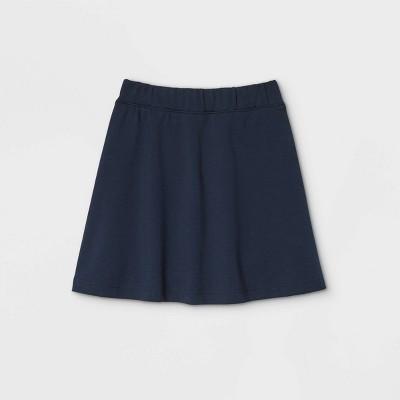 Girls' Pull-On Uniform Knit Skater Skorts - Cat & Jack™ Blue