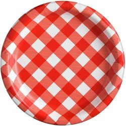 "20ct 8.5"" Gingham Dinner Plate - Sun Squad™"