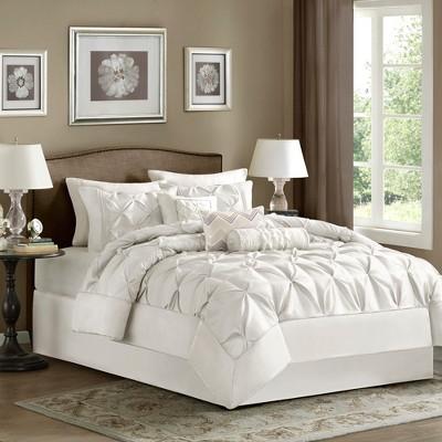 Piedmont 7 Piece Comforter Set - White (Queen)
