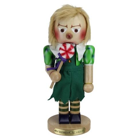 "Kurt S. Adler 14"" Green and Beige Handcrafted Lollipop Munchkin Nutcracker - image 1 of 3"